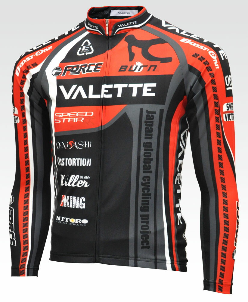 【VALETTE/バレット】SPEEDII FORCE (スピード2フォース) 長袖ジャージ VALETTE A-LINE【サイクルジャージ/サイクルウェア/自転車/レプリカ/サイクル/ロードバイク/ウェア/ユニフォーム/ランニングウェア/フィットネスウェア】 【バレット】長袖ジャージ VALETTE A-LINEサイクルウェア/サイクルジャージ/ロードバイク