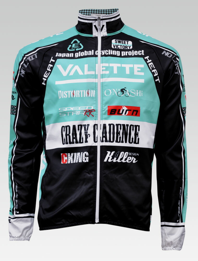 【VALETTE/バレット】SPEED (スピード)Celeste(チェレステ) ウインドブレーカー VALETTE A-LINE【サイクルジャージ/サイクルウェア/自転車/レプリカ/サイクル/ロードバイク/ウェア/ユニフォーム/ランニングウェア/フィットネスウェア】 【バレット】ウインドブレーカー VALETTE A-LINEサイクルウェア/サイクルジャージ/ロードバイク