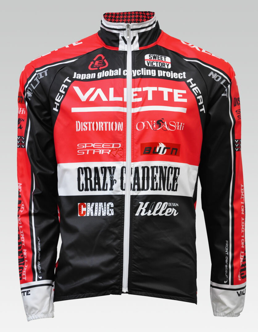 【VALETTE/バレット】SPEED (スピード)Red( レッド) ウインドブレーカー VALETTE A-LINE【サイクルジャージ/サイクルウェア/自転車/レプリカ/サイクル/ロードバイク/ウェア/ユニフォーム/ランニングウェア/フィットネスウェア】 【バレット】ウインドブレーカー VALETTE A-LINEサイクルウェア/サイクルジャージ/ロードバイク