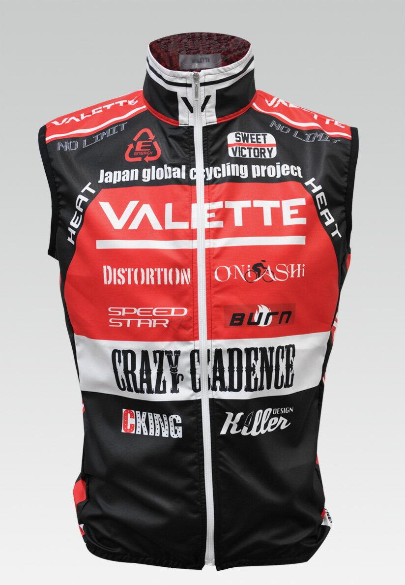 【VALETTE/バレット】SPEED (スピード)Red( レッド) ウインドベスト VALETTE A-LINE【サイクルジャージ/サイクルウェア/自転車/レプリカ/サイクル/ロードバイク/ウェア/ユニフォーム/ランニングウェア/フィットネスウェア】 【バレット】ウインドベスト VALETTE A-LINEサイクルウェア/サイクルジャージ/ロードバイク