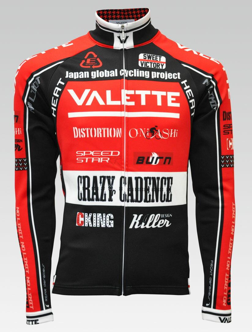 【VALETTE/バレット】SPEED (スピード)RED(レッド) ウインタージャージ VALETTE A-LINE【サイクルジャージ/サイクルウェア/自転車/レプリカ/サイクル/ロードバイク/ウェア/ユニフォーム/ランニングウェア/フィットネスウェア】 【バレット】ウインタージャージ VALETTE A-LINEサイクルウェア/サイクルジャージ/ロードバイク