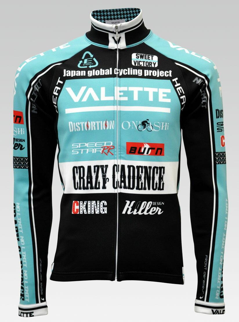 【VALETTE/バレット】SPEED (スピード)CELESTE(チェレステ) ウインタージャージ VALETTE A-LINE【サイクルジャージ/サイクルウェア/自転車/レプリカ/サイクル/ロードバイク/ウェア/ユニフォーム/ランニングウェア/フィットネスウェア】 【バレット】ウインタージャージ VALETTE A-LINEサイクルウェア/サイクルジャージ/ロードバイク【グレード】