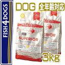 フィッシュ4ドッグ スーペリア アダルト 小粒 3kg (1.5kg×2) 穀物不使用 ドッグフード FISH4DOGS 正規品