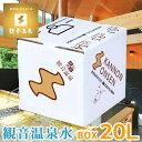 アルカリ源泉100%温泉水のナチュラルミネラルウォーター飲める観音温泉水 20Lバックインボックス(1箱)