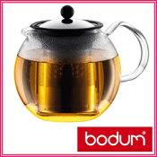 人気商品■特別セール■ボダム アッサム ティーポット 1.0L bodum ガラスハンドル 1801-16J 可愛いらしいティーメーカーで美味しい紅茶を