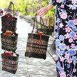 浴衣 バッグ 巾着「日本製浴衣巾着竹かごバッグ」籠 篭 カゴ 取り外し可能 大きめ