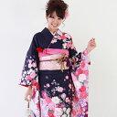 振袖 レンタル 成人式 セット 20点フルセット 「紫 桜 バラ モダン」 成人式から結婚式やフォーマルまで 着物 kimono フリソデ ふりそで rental れんたる せいじんしき セイジンシキ着物レンタル 貸衣装