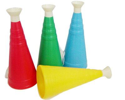 応援メガホン大 長さ31cm レッド/イエロー/ブルー/グリーン/スカイブルー/オレンジの6色から選択