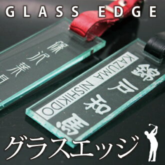 Put the golf name plate name tag name tag engraved names, such as Womens glass transparent? s グラスエッジ? t type! Caddy back suitcase carry bag giveaway birthday retirement Celebrate 60th birthday celebrate celebration fs3gm