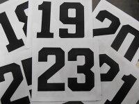 『1〜99』番まで作成!少年野球 ユニフォーム背番号/ゼッケンの画像