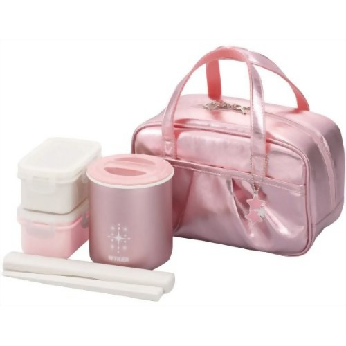 Sierra 45 Tiger まほうびん lunch box ( thermal lunch jar ) girls specifications shiny pink half less than half Super sale.