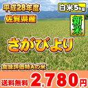 【新米】【平成28年】佐賀県産 さがびより【食味評価特A】【送料無料】【白米5kg】【九州の米】