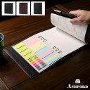 ASHFORD/アシュフォード ライフオーガナイザー ディープ A5+A5 15mm No.3706 ブラック ( 黒 ) / ブラウン ( 茶色 ) / ネイビー ( 紺 )