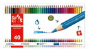 CARAND'ACHE ファンカラー ライン 水溶性色鉛筆 40色セット
