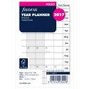 【処分価格】FILOFAX 2017年 ミニ6穴サイズ ホリゾンタルイヤープランナー システム手帳リ