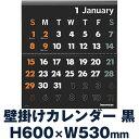 イノベーター 2017年カレンダー 壁掛 Lサイズ ブラック W530×H600mm