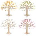RoomClip商品情報 - Lovi グリーティングカード シーズンツリー 11.5cm ホワイト/チェリーピンク/ペールグリーン/イエロー (メッセージカード かわいい)