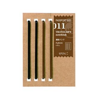 旅行者的筆記本護照大小旅行筆記本筆芯鞏固樂隊 011 (旅行者的筆記本 /MIDORI / 綠/筆芯/位於/橡膠帶)