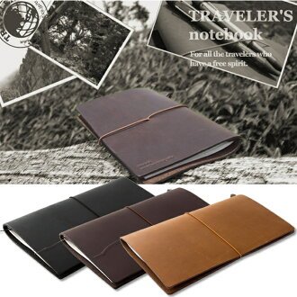 TRAVELER's notebook traveler regular size Black / Brown / camel