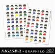 NAGASAWA Kobe INK物語 × GRAPHILO 神戸インク物語50色 グラフィーロ A5ノート 4mm方眼タイプ (大和出版印刷/グラフィロ/グラフィーロ/A5 grid/ぬらぬら 万年筆ナガサワ文具センター/オリジナル)