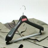 ハンガー スーツ ジャケット メンズ クリップ プラスチック セット 【 S&F ジャケット回転式ハンガー 40cm ブラック 3本セット】 HANGER