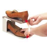 空间效益的存储中的存储空间?木屐鞋1 / 2一套12英尺[靴 収納 ボックス 2倍 ケース 【靴収納 スペース1/2 12足セット】]