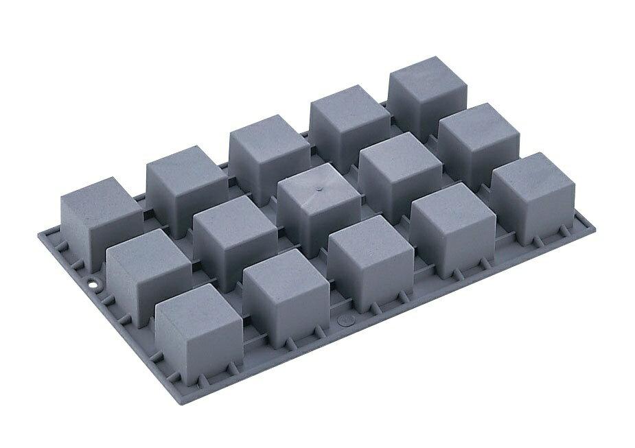 デバイヤーエラストモール1861−01キューブ・ミニ15ヶ取ケーキ型セルクル厨房用品調理器具キッチン