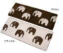 象さんの模様が印象的なラグマットです。コットン100%でやわらかな肌触りですよ♪【アジアン雑...