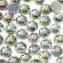 【メール便可】お徳用 アクリルストーン ラウンド オーロラ 2mm 約700粒