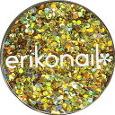 erikonail(エリコネイル):ジュエリーコレクション/ホロゴールドスパークル 丸 1mm(ERI-69)