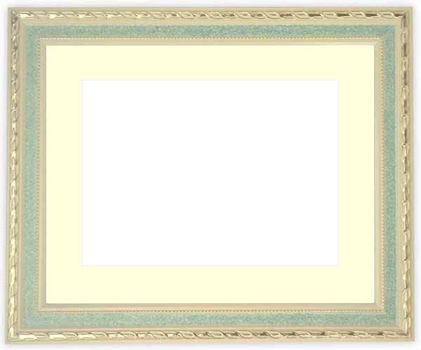 押し花額縁 5663/グリーン 60額サイズ(ガラス寸法604×453mm)【os-C】【絵画/壁掛け/インテリア/玄関/アートフレーム】