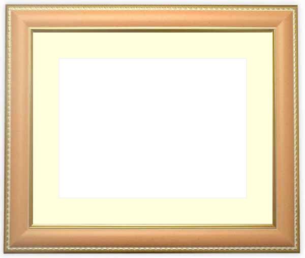 写真用額縁 9614/オレンジ A3(420×297mm)専用☆前面アクリル仕様☆マット付き【写真/9614/オレンジ】
