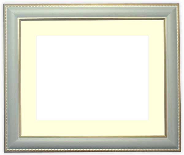 水彩額 9614/グレー 水彩F6(410×318mm)専用 ☆前面ガラス仕様☆マット付き