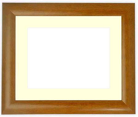 水彩額 5021/桜 水彩F6(410×318mm)専用 ☆前面ガラス仕様☆マット付き【絵画/壁掛け/インテリア/玄関/アートフレーム】
