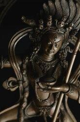 ダーキニー(荼吉尼天:ダキニ天)銅造彫金仕上げ 銅造 彫金仕上げ:仏像仏画チベット美術卸の天竺堂