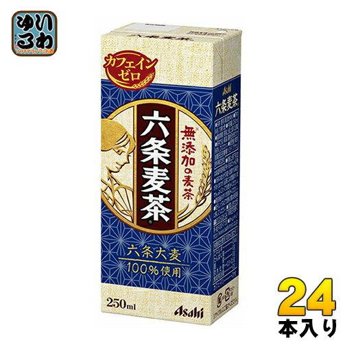 アサヒ 六条麦茶 250ml 紙パック 24本入〔お茶 むぎ茶 麦茶 無添加 ノンカフェイン 紙パック〕