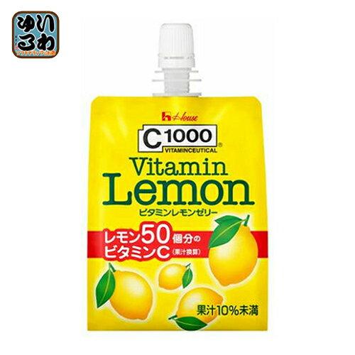 ハウスウェルネス C1000 ビタミンレモンゼリー 180gパック 24個入〔C-1000 VitaminLemonJelly パウチ〕