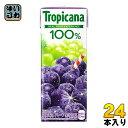 〔送料無料〕キリン トロピカーナ100% グレープ 250ml 紙パック 24本入〔キリン KIRIN Tropicana Grape ぶどう 果汁飲料 グレープ 葡萄ミックス 〕