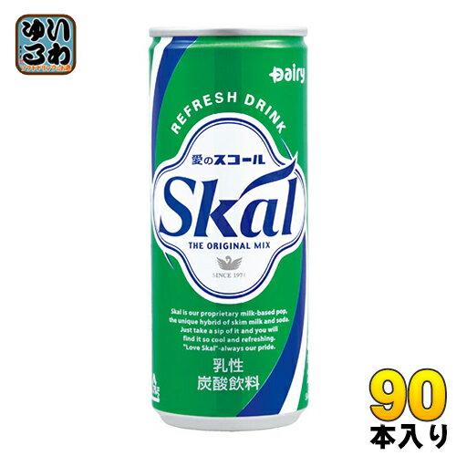 南日本酪農 スコール ホワイト 250ml 缶 30本入×3 まとめ買い〔乳性炭酸飲料 愛のスコール〕