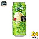 ポッカサッポロ がぶ飲みメロンクリームソーダ 500ml 缶 24本入〔乳性飲料〕