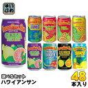 〔クーポン配布中〕ハワイアンサン 340ml 缶 選べる 48本(24本×2)〔果汁飲料〕