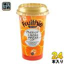和歌山産業 フルージーブラッドオレンジ+みかん 225gカップ 24本 (12本入×2 まとめ買い)〔果汁飲料〕