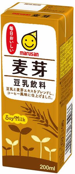 マルサン 豆乳飲料 麦芽 200ml 紙パック...の紹介画像2