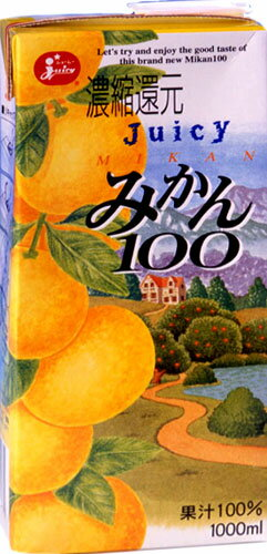 Juicy orange 100 1000ml paper Pack 6 pieces [orange juice]