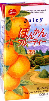 6 juicy ぽんかん fruity 1,000 ml pack Motoiri [ponkan orange]