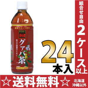 500 ml of 24 新日配薬品 guava tea pet Motoiri