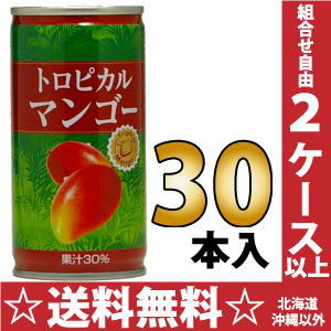 Juicy tropical mango 190 g can 30 pieces