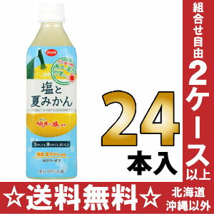 Ehime drinking POM PON salt and orange 490 ml pet 24 pieces