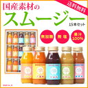 国産素材のスムージー15本セット (果汁...