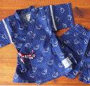 BLUEU AZUR(ブルーアズール)ベビー&キッズ クジラ柄甚平(80~95cm)